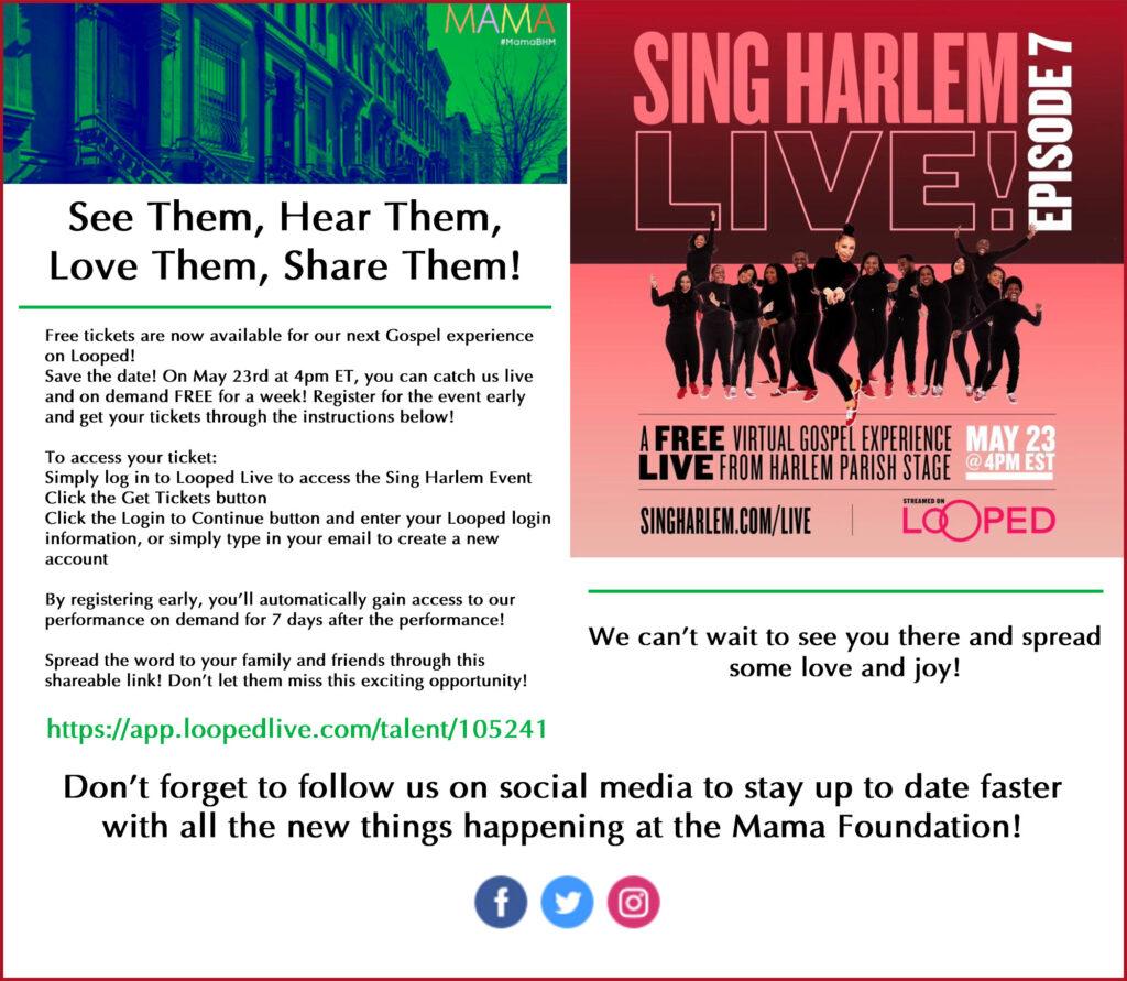 Sing-Harlem-Live-Flyer